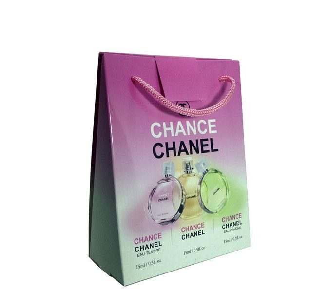 CHANEL eau de toilette 3x15ml