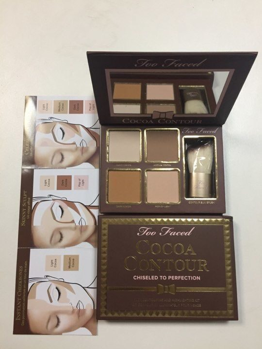 Контур и Хайлайтер для лица too faced COCOA CONTOUR (4 оттенка)