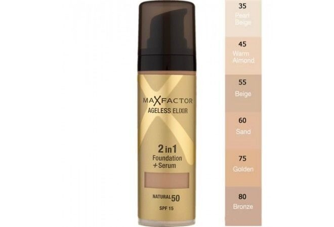 Тональный крем Maxfactor ageless elixir  SPF15   LIGHT IVORY 40№