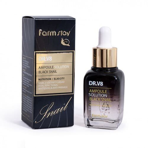 Сыворотка для лица Farm stay DR.V8 Ampoule Solution Black Snail 30 ml.