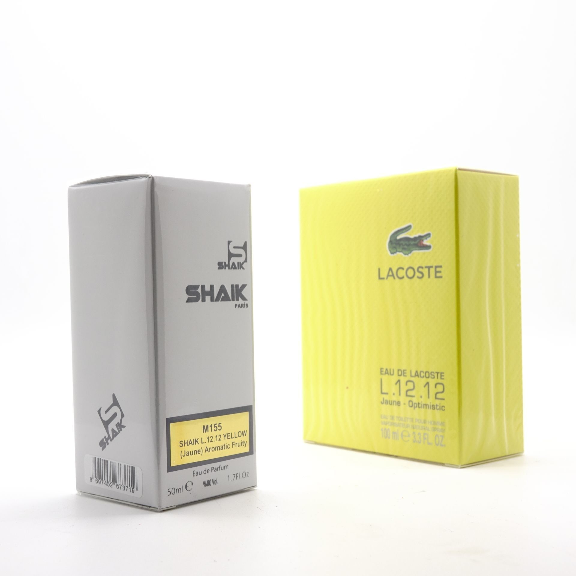 SHAIK M 155 (LACOSTE L.12.12 JAUNE-OPTIMISTIC FOR MEN) 50ml