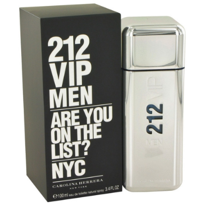 212 Vip Men 3.4 oz By Carolina Herrera Eau De Toilette For Men   100ML
