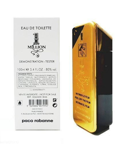 тестер PACO RABANNE - 1 Million men EDT (100 ml)